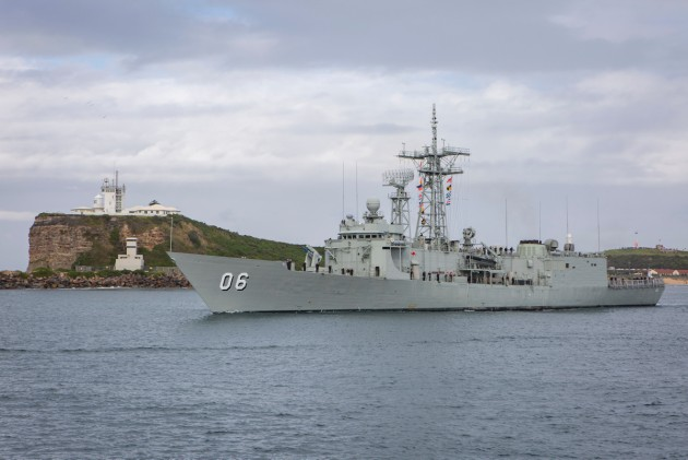 HMAS Newcastle leaves her namesake city for the last time. Defence