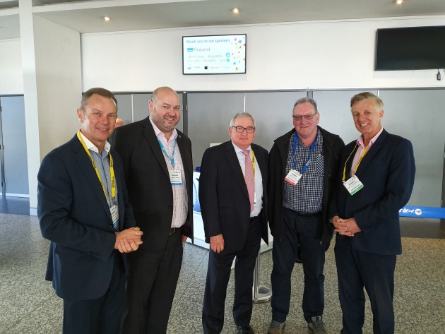 Winner: Mick Cullen, Southern Colour (second from right) with (from left) Mitch Mulligan, president, Visual Connections; Jeremy Brew, chair, PrintEx; Peter Harper, CEO, Visual Connections; and Wayne Robinson, editor, Print21.