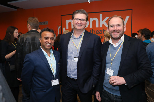 Percy Vij, Centrum Printing; Mark Dingley, Matthews; and Phil Biggs, Packaging Partners.