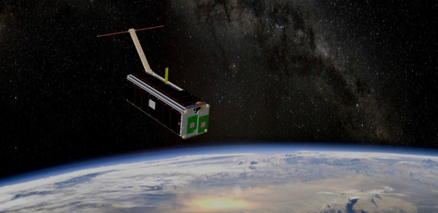 Artist's impression of the M2 Pathfinder, or CubeSat satellite in orbit over the earth. (Defence)