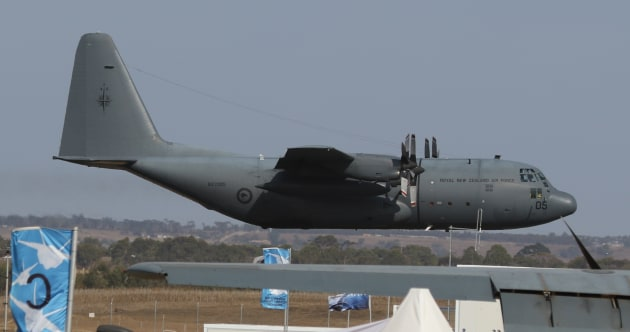 An RNZAF C-130H at the 2019 Avalon Airshow.
