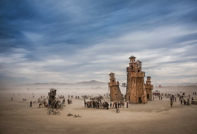 Black Rock Lighthouse Service in the Nevada desert, US. Photograph: Tom Stahl/arcaidimages.com/Sto