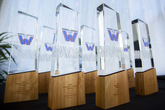 The WIDA 2018 trophies.