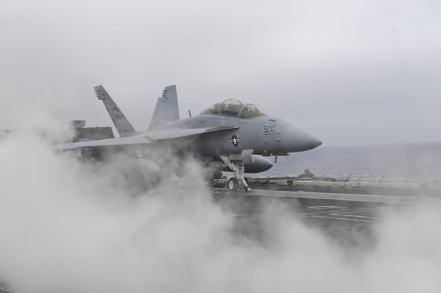 The new jamming pod will be fitted onto US Navy EA-18G Growlers. Credit: USN