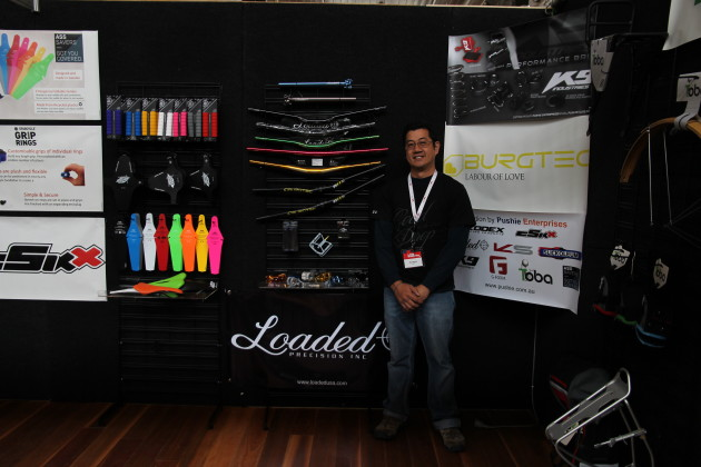 Alan David seen here exhibiting at the 2013 Ausbike Expo in Melbourne.
