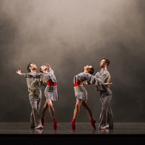 Brett Chynoweth, Jade Wood, Jill Ogai and Calvin Hannaford in In the Australian Ballet's production of Twyla Tharp's The Upper Room (2015). Photo: Kate Longley.