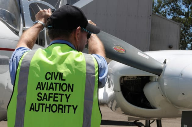 A CASA Flight Operations Inspector at work. (CASA)