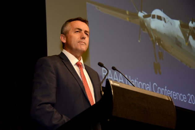 Minister for Infrastructure and Transport, Darren Chester. (Steve Hitchen)