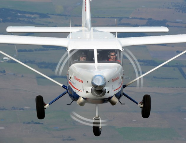 The sharp nose of the Airvan 10 is characteristic of turbo-prop aircraft. (Steve Hitchen)