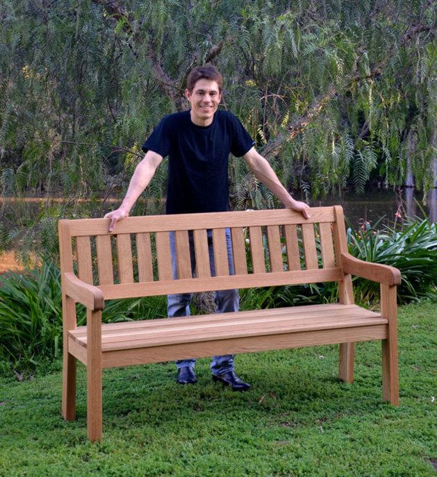 Stupendous Making An Oak Garden Bench Australian Wood Review Caraccident5 Cool Chair Designs And Ideas Caraccident5Info