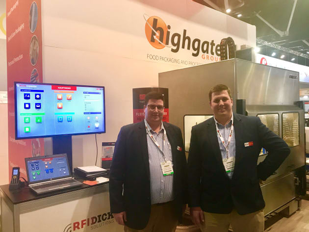 Alister and Brendan Joyce on the Highgate stand at Foodpro 2017.