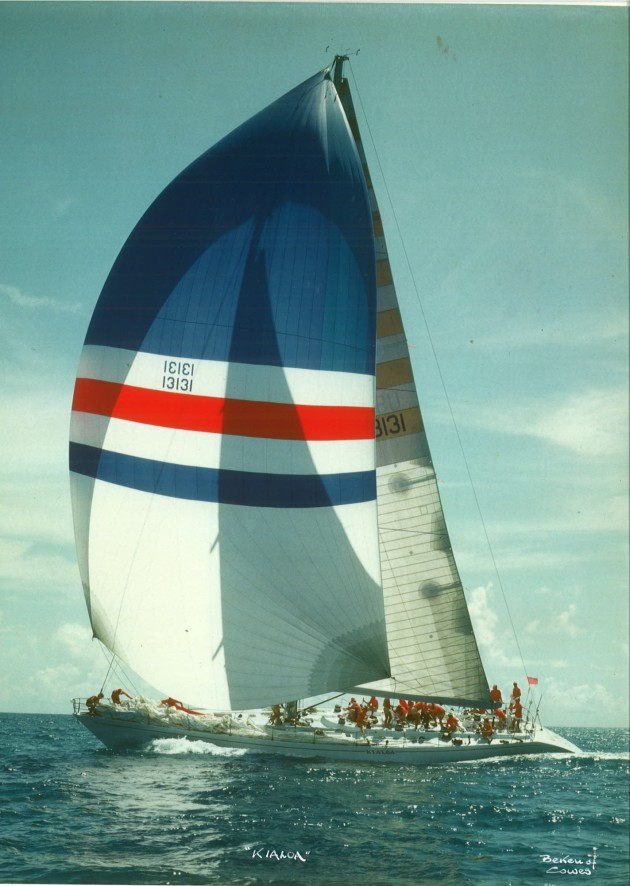 Another Beken of Cowes image. We raced with 25 crew and when a major maneouvre was underway all 25 would be needed. It was a special feeling when you finished doing something and realised noone talked, we all just did our jobs in perfect synch.