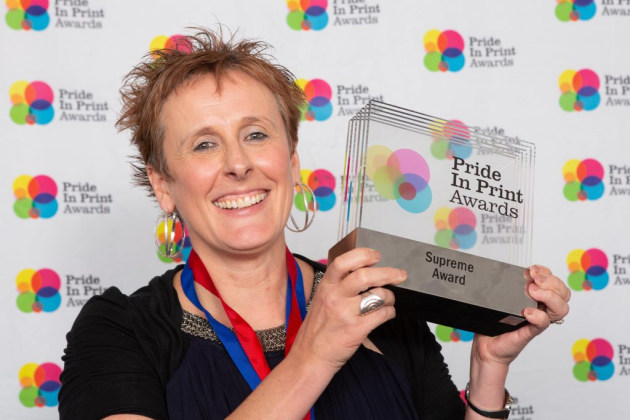 Thrilled: Katharine Williams, Printlink, with the 2019 Pride in Print Supreme Award