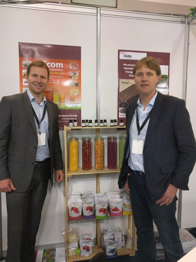 On the Provyda stand, there were two main focuses: chocolate and freeze-dried products. 