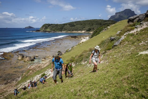 Walking is glorious on Lord Howe Island. Photo: Luke Hanson.