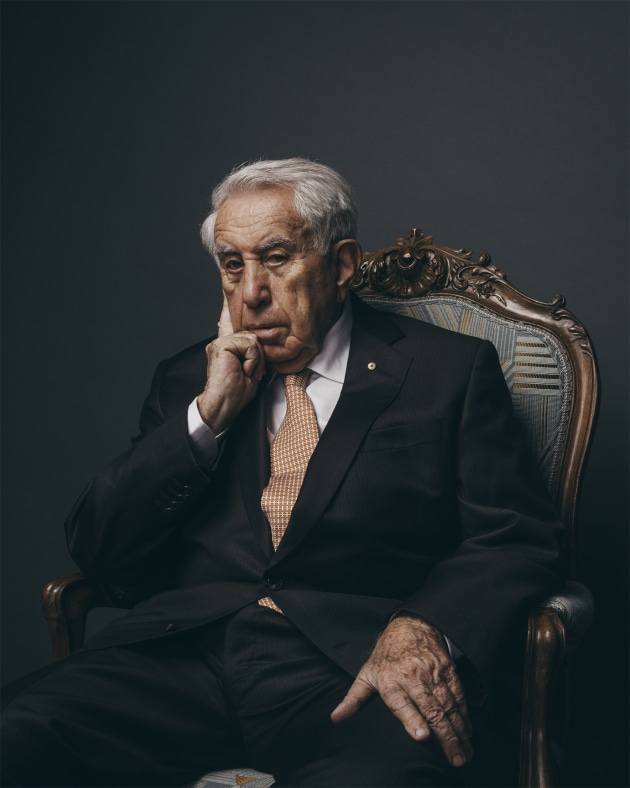 © James Brickwood. Harry Triguboff, 2017, shot for The Australian Financial Review.
