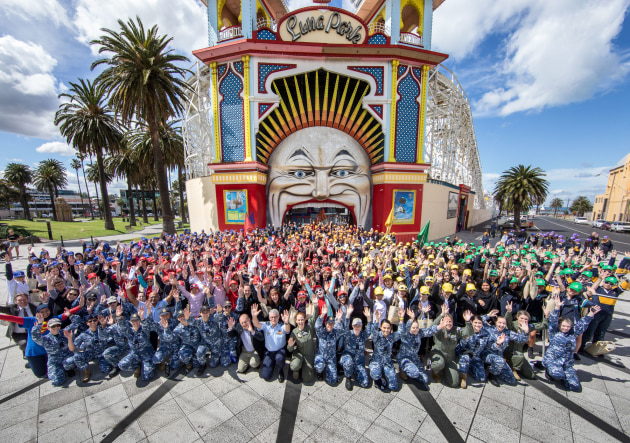 Over 1,400 female students participated in interactive activities at Melbourne's Luna Park.