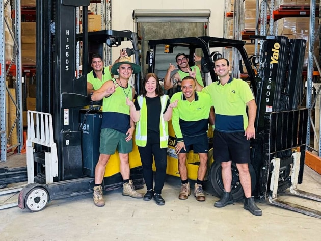 Artiwood Brisbane warehouse team