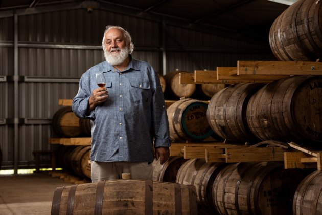 Tasmania's Lark Distilling Co has been recognised as Australia's first carbon neutral distillery, with its operations having no net negative impact on the climate. (Founder Bill Lark.)