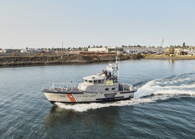 The news comes months after the US Coast Guard accepted the Birdon America 47C MLB SLEP First Article Vessel at the National Motor Lifeboat School. (Supplied)