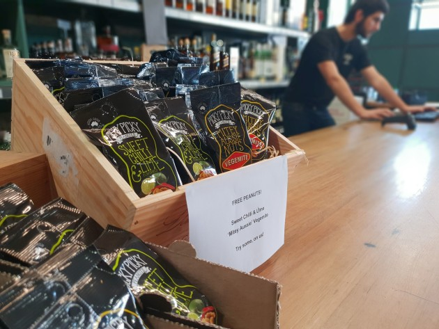 Picky Picky peanuts brand offered free samples to barbers and bottle shops using Brandcrush.