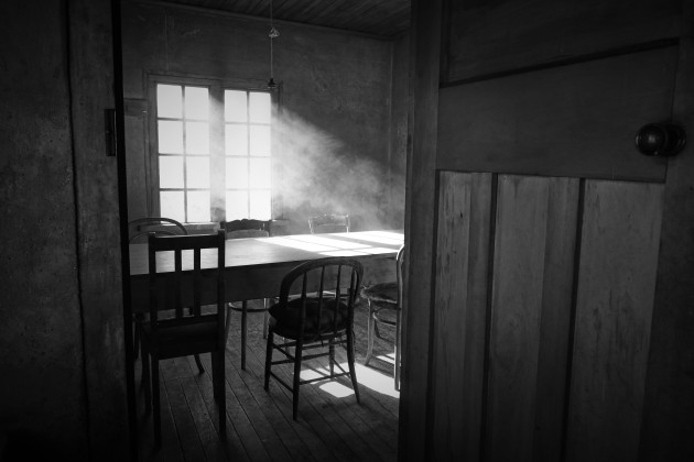 The subject of this image is the light coming through the window in this beautiful shearers' hut in Central Otago, New Zealand. To see this light, I have sprayed a product called Atmosphere Aerosol into the air and waited for it to swirl around to resemble smoke. The room would have been quite static otherwise.  The emotion has been emphasised by adding this soft contrasting texture. Canon 5D MKIV, TS-E24mm f/3.5L II lens. 1/50s @ f8, ISO 320.