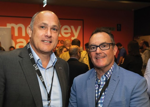 Peter Scott, Screen GP (left), with Shane Wildash, Rawson Print Co.