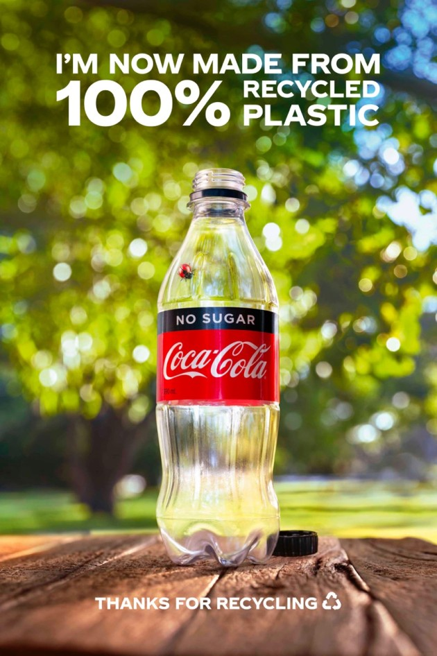 PIDA 2020: Coca-Cola Amatil's 100% rPET bottle is the joint Gold winner in the Beverage category.