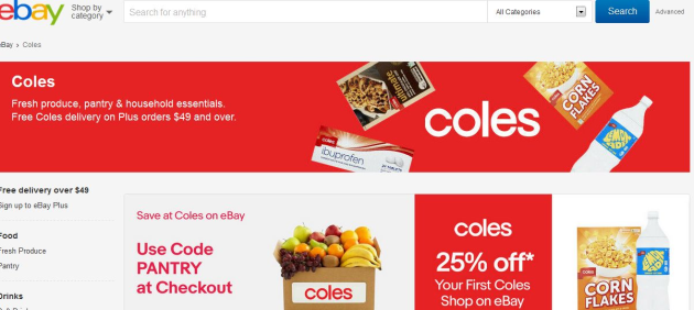 Coles Teams With Ebay On Online Groceries Food Drink Business