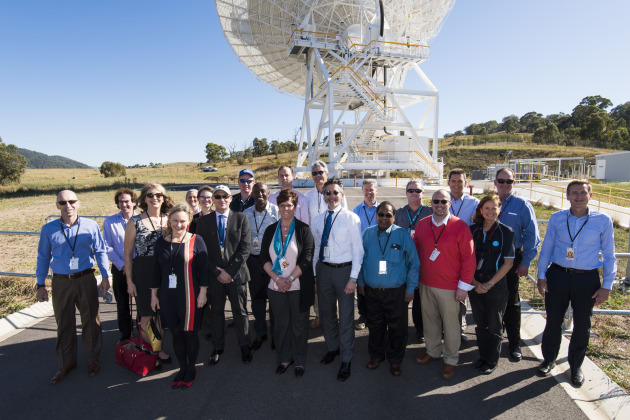 Members of CSIRO and Boeing's leadership teams recently met at CSIRO's space facility in Canberra. Credit: CSIRO