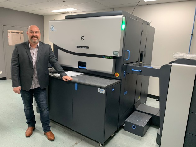 Double capacity: Alan O'Neil, general manager at Daniels Print Craftsmen with the HP Indigo 7r