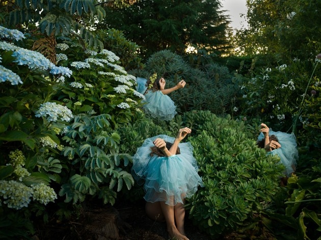 © Tamara Dean. Introversion, 2020. From the series, High jinks in the hydrangeas. Courtesy of the artist and Michael Reid (Sydney + Berlin).