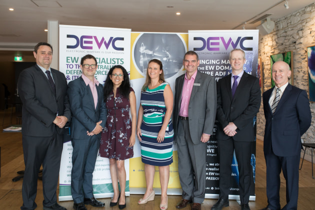 DEWC's Ian Spencer with the Defence Innovation Partnership team.