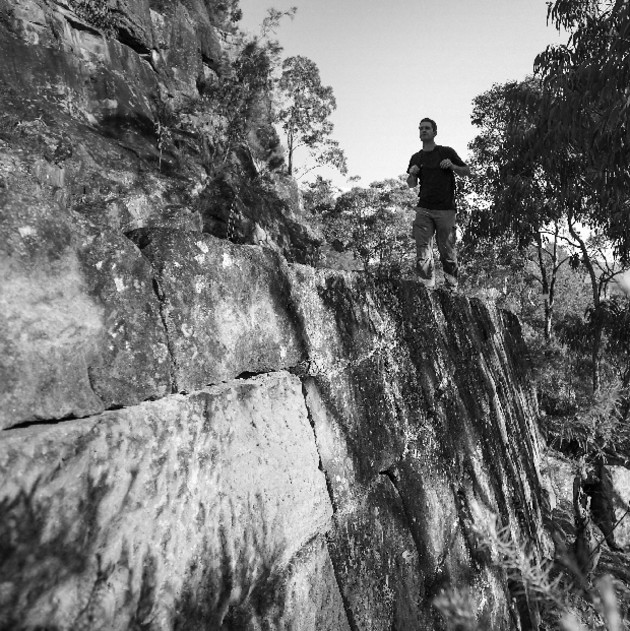 Walking on the convict path, Dharug National Park, NSW. John Palsson.