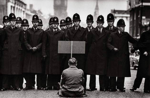 Don McCullin (Aperture). Protester, Cuban Missile Crisis, Whitehall, London. 1962.