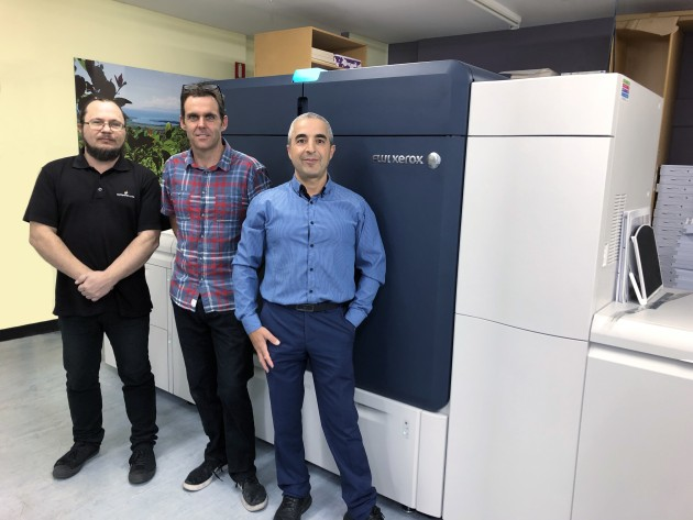 Ease of use: (l-r) Cory Heneker, pre-press supervisor; Dave Dobson, press room manager; and Steve Kounnas, sales manager, all Digital Print Australia