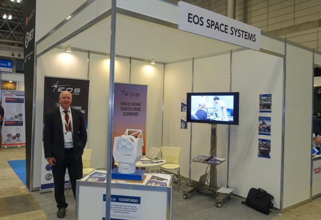 EOS at DSEI Japan 2019. (Nigel Pittaway)