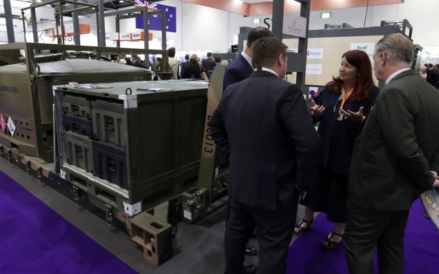 Minister for Defence Industry Melissa Price made the announcement with ECLIPS Logistics at DSEI. Credit: Minister Price via Twitter