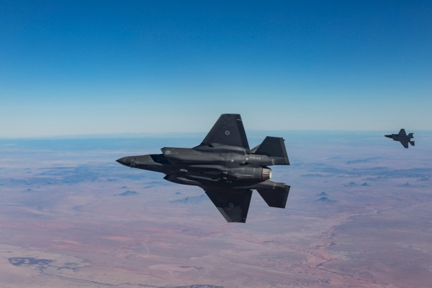 Two Australian F-35s over the Hopi Reservation, Arizona, USA.
