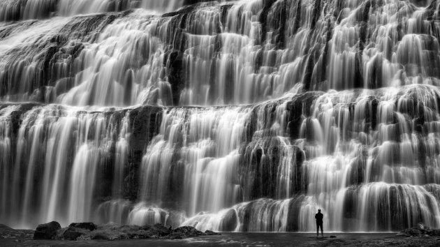1st Prize winner, Water. François Bogaerts, Belgium, The Downpour. This photo was taken in Iceland. The waterfall is called 'Dynjandifoss' and is one of the most beautiful waterfalls in Iceland (also known as the Fjallfoss or mountain waterfall). With this image, I wanted to capture the beauty of nature and portray how small and insignificant we are compared to this wild nature. By using a slower shutter speed (half a second), the water of the waterfall is shown as a beautiful bridal veil.