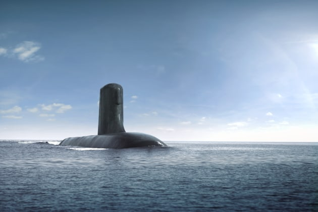 A concept image of the Attack class submarine. (Credit: Naval Group)