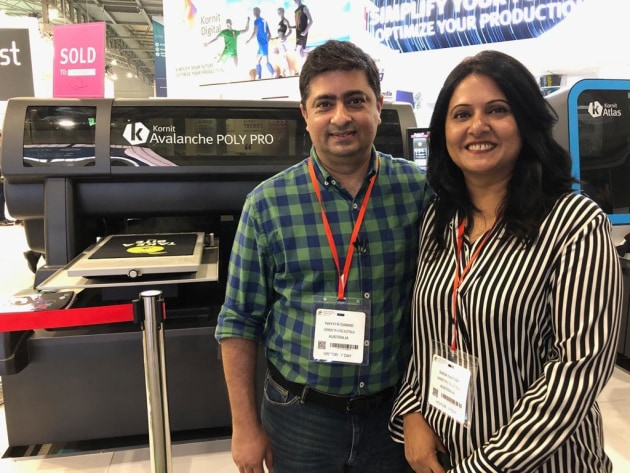 First in Australia: Nayyar and Sadia Samad  with the Avalanche PolyPro