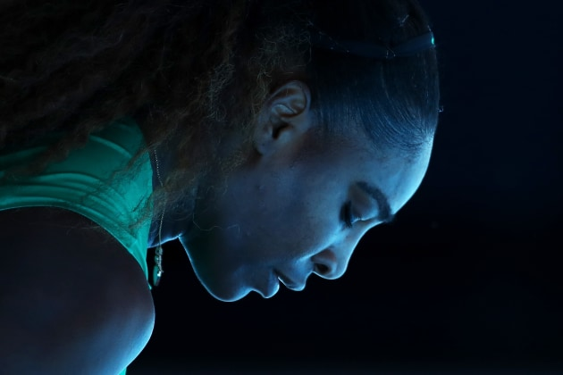 Serena Williams of the United States looks on in her quarter final match against Karolina Pliskova of Czech Republic during day 10 of the 2019 Australian Open at Melbourne Park on January 23, 2019 in Melbourne, Australia. Image: Cameron Spencer/Getty Images.