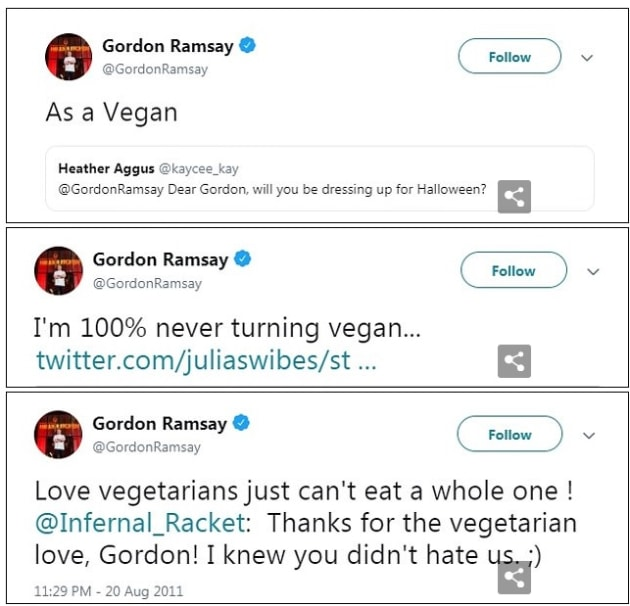 gordon ramsay on vegan and other diets