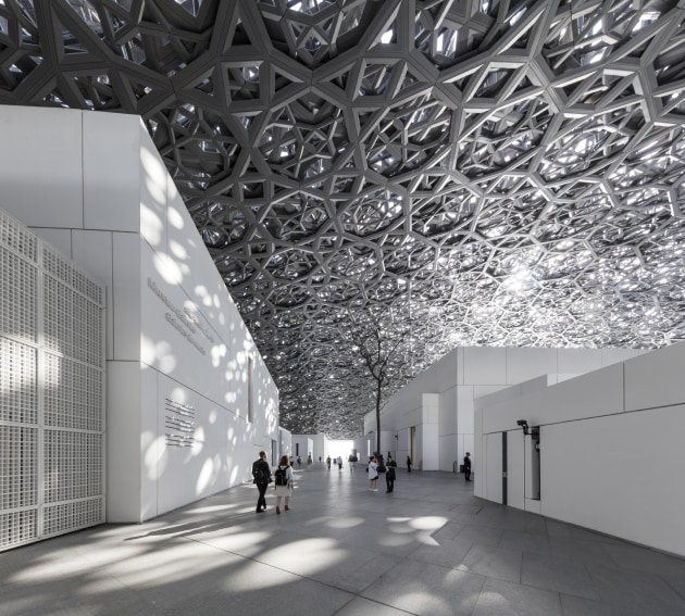 © Tim Griffith. Louvre Abu Dhabi. Architect: Atelier Jean Nouvel.