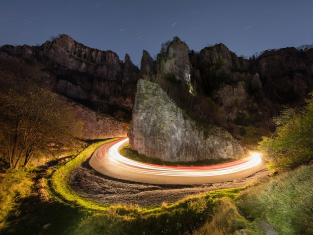 2020 Landscape Prize - International runner-up. © Paul Carruthers. Cheddar Gorge - Horseshoe Bend. A five-minute night-time exposure of the famous limestone gorge, once voted one of the seven wonders of Britain.
