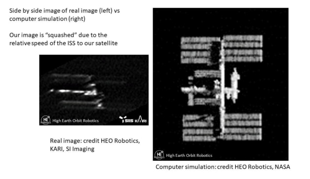 This is only the second time an Earth Observation satellite has been used to image another spacecraft.
