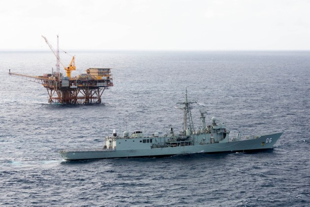 HMAS Newcastle could soon protect oil rigs around Cyprus.
