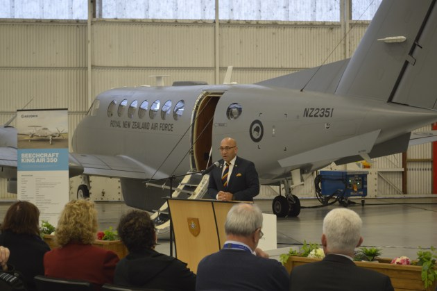 An acceptance ceremony for the fourth and final KA350 delivery was held at Ohakea with NZ Minister of Defence Ron Mark.