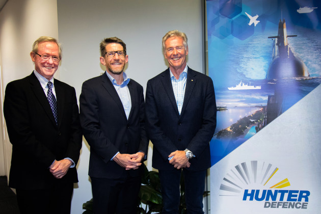 Neale Prescott, Business Development Manager Lockheed Martin and Andrew Chapman, F-35 Program Lead at BAE Systems Australia, and Tim Owen.